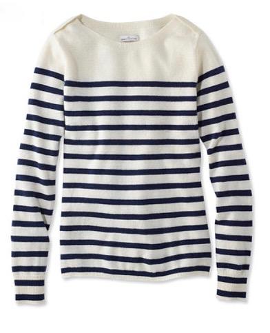 llbeantripedsweater